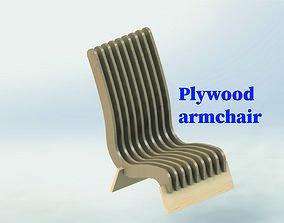 Plywood armchair 3D printable model