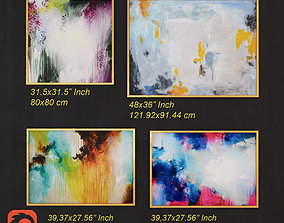 3D asset Abstract Painting 005