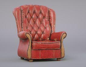 Old Armchair 3D model PBR
