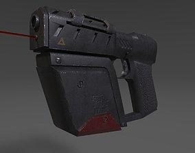 3D asset Sci fi pistol