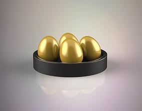 3D model Golden eggs