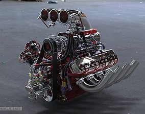 3D model Dragster engine