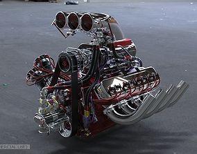 3D model Dragster engine