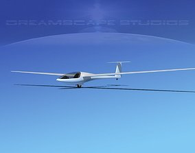 3D DG-400 17-Metre Sailplane Bare Metal