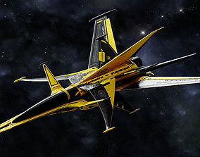 3D asset realtime Space ship