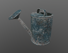 3D asset Old Watering Can