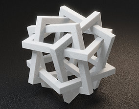 Orderly Tangle 01 - Six Hollow Squares 3D printable model