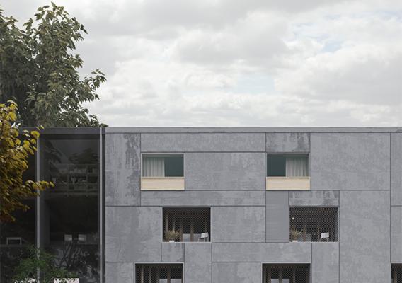 Architectural rendering, garden view