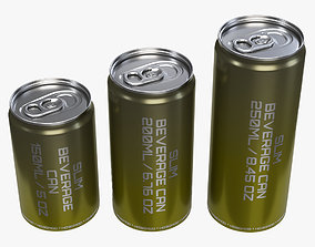 3D Slim beverage cans 150 200 250 ml 5 6-76 8-45 oz
