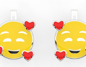 childrens earrings smile 3D printable model
