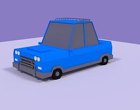Low Poly Car sedancartooncar 3D asset