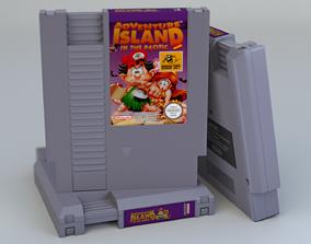Photorealistic NES cartridge 3D model realtime