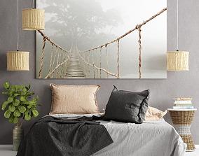 Bedroom set 3D plant