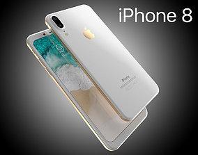 3D model Apple iPhone 8 X Concept Leak Corner edges All