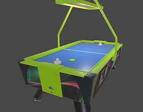 Air Hockey Table 3D model game-ready