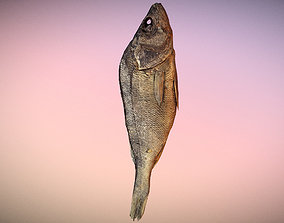 photorealistic scanned dried fish 3D asset