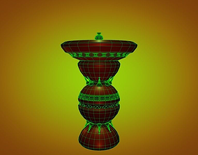fountain building 3D model