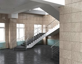 Lobby in the office building 3d max scene
