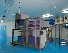 Stacking box feeding machine 3D model
