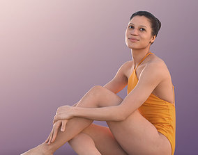 10901 Diana - Woman In Bathing Suit Sitting At 3D model 1