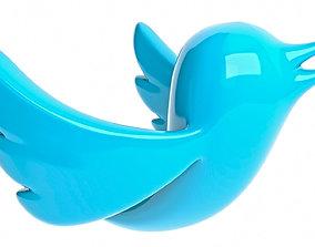 3D asset Logo Twitter