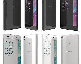 Sony Xperia E5 Black and White 3D model