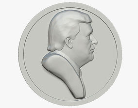 Trump Pin Button 3D printable model