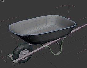 VR / AR ready Wheelbarrow low poly 3d model