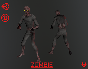Zombie - Game Ready Character 3D asset