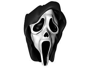 scream face 3D Model mask