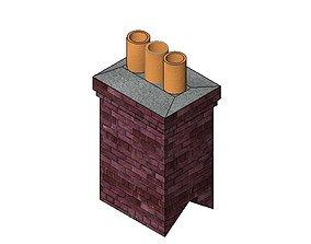 3D model Chimney - Dbl Slope