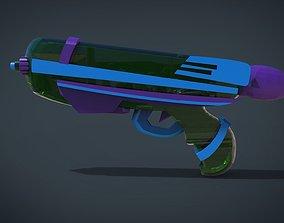 low-poly Water Gun - Kid Toys 3D Model