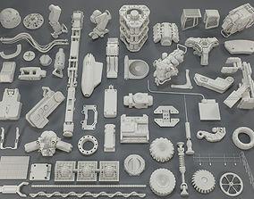 3D Kit bash - 54 pieces - collection-9
