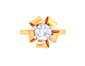 silver 3D printable model Solatire Rings