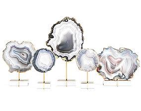 3D model Decorative set of agate slices