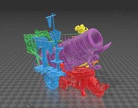 3D print model iron blaster - titan cannon - ogor
