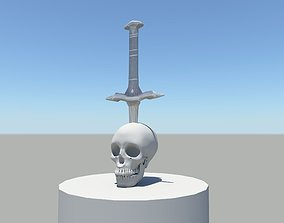 Human skull 3D printable model
