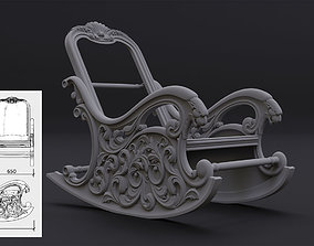 Rocking chair in classic style for CNC 3D print model 1