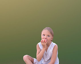 3D model Lilly 10251 - Sitting eating Girl