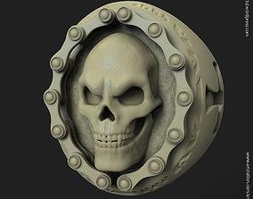 biker skull vol2 ring 3D print model