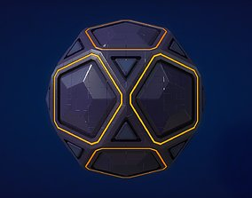 Sci-fi Orb - Stone 3D model
