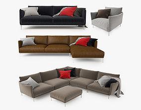 3D Moroso Gentry Sofa Collection