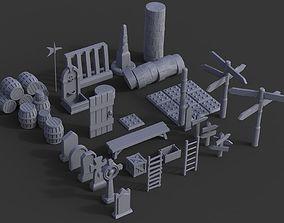 Medieval Props Pack 3D printable model