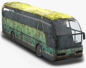 3D asset Tourist Bus Abandoned Low Poly