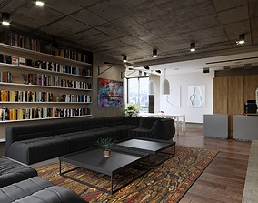 Mix Loft Indotrial Apartment 2 3D