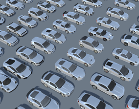 3D model Cars Pack 60 Low Poly Cars