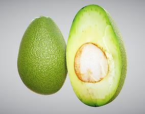 Avocado 3D model game-ready