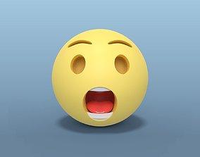 Surprised Smiley 3D asset