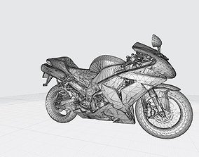 Kawasaki Ninja 2006 3D Model Ready For 3D Printing Stl