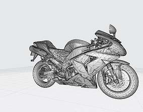 Kawasaki Ninja 2006 3D Model Ready For 3D Printing Stl